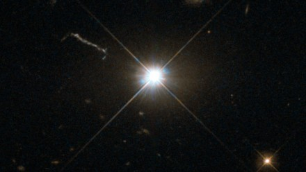 A bright supermassive black hole. Image credit: ESA/Hubble & NASA