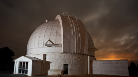 Mount Stromlo 74 inch dome at night