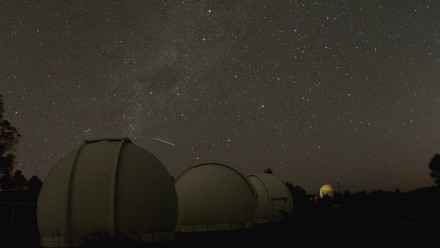 Mount Stromlo outreach domes at night